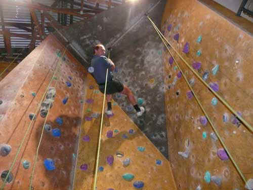 Indoor climbing wall in the valley